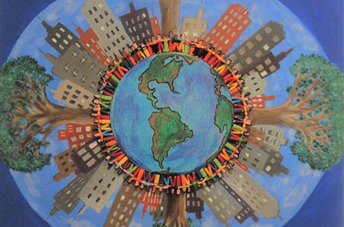 """""""Art: The Language of Community"""": reflections on the art exhibit by Aura Chapa"""