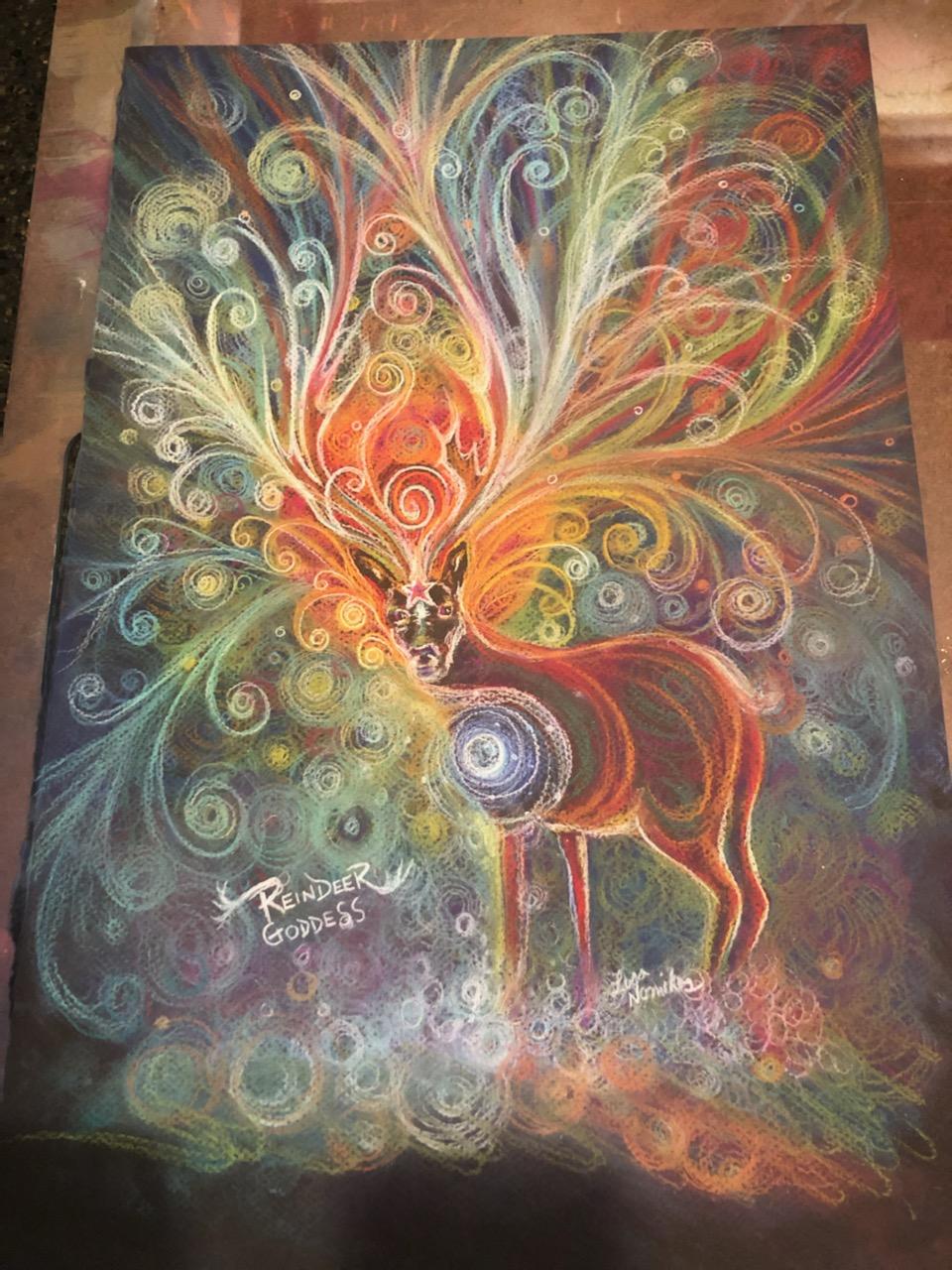 Reindeer Goddess drawing 2